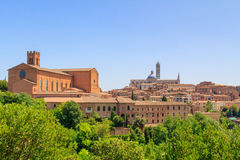Cityscape of Siena Stock Photo
