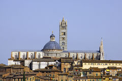 Cityscape of Siena, Italy Stock Images