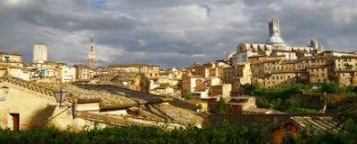 Cityscape of Siena, Italy Stock Image
