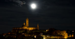Cityscape of Siena at night Royalty Free Stock Photography