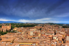 Cityscape of Siena (toscana - italy). View from top Royalty Free Stock Images