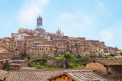 Cityscape of Siena in Tuscany, Italy. Stock Photo