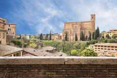 Cityscape of Siena in Tuscany, Italy Stock Image