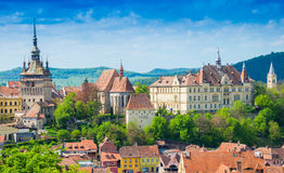 Cityscape Sighisoara, Romania Stock Photo