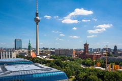 Cityscape from the sightseeing platform on the Berlin Cathedral Stock Images