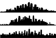 Cityscape silhouette Stock Photography