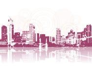 Cityscape silhouette Stock Image