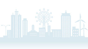 Cityscape Silhouette Royalty Free Stock Photography