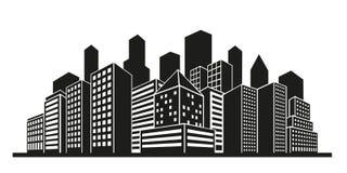 Cityscape silhouette vector Royalty Free Stock Photos