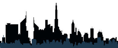 Cityscape silhouette-vector Royalty Free Stock Photo