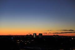 Cityscape silhouetten Stock Fotografie