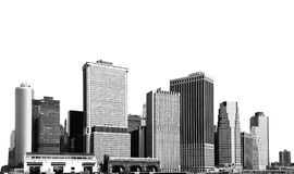 Cityscape - silhouettes of skyscrapers Royalty Free Stock Photo