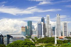 cityscape singapore royaltyfri foto