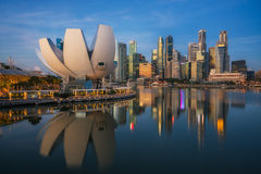 Cityscape of Singapore city Royalty Free Stock Photography