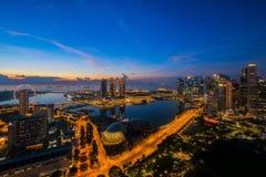 Cityscape of Singapore city Royalty Free Stock Photo