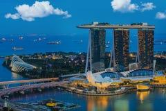 Cityscape of Singapore city, Singapore Stock Photo