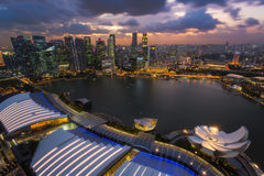Cityscape of Singapore city Stock Photo