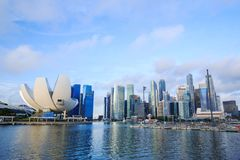 Cityscape of Singapore city Stock Photos