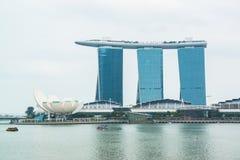 Cityscape of Singapore Marina Bay Sand Royalty Free Stock Photography