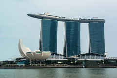Cityscape of Singapore Marina Bay Sand Royalty Free Stock Images