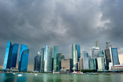 Singapore before the rain Royalty Free Stock Images