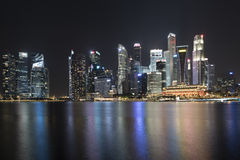 Cityscape of Singapore at night Stock Photography