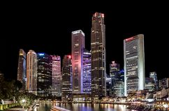 Singapore by night Stock Images