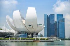 Cityscape of Singapore Skyline at Marina Bay Sands Stock Images