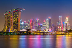 Cityscape of Singapore. Skyline and modern skyscrapers of busine Royalty Free Stock Photo