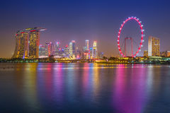 Cityscape of Singapore. Skyline and modern skyscrapers of busine Royalty Free Stock Photography