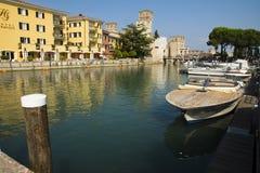 Cityscape Sirmione, Italy Stock Photos