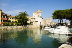 Cityscape Sirmione, Italy Stock Photo