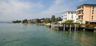 Cityscape Sirmione, Italy Royalty Free Stock Image