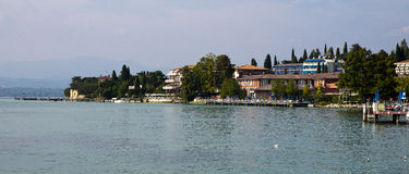 Cityscape Sirmione, Italy Royalty Free Stock Photography
