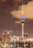 Cityscape of Sky tower in Auckland, New Zealand. Royalty Free Stock Image