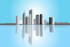 Cityscape skyline Royalty Free Stock Photos