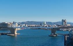 Porta d`Europa bridge in Barcelona Stock Photography