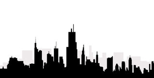 Cityscape skyline -Vector. Cityscape skyline is a  illustration Royalty Free Stock Photo