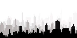 Cityscape Skyline - Vector Royalty Free Stock Photos