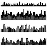 Cityscape with Skyscraper Building Stock Images