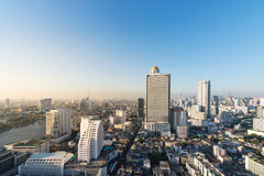 Cityscape with skyscrapers aerial view, Bangkok, Thailand Stock Images