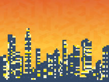 Cityscape  skyscrapers Royalty Free Stock Photos