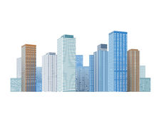 Cityscape with skyscrapers Stock Images