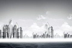 Cityscape with skysrapers Stock Photography