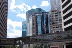 Cityscape and Skyway of Minneapolis Royalty Free Stock Photography
