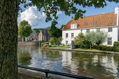 Cityscape of Sneek at 2e Oosterkade at Looxmagracht royalty free stock image