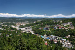 Cityscape of Sochi stock image