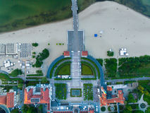 Cityscape of Sopot, top view Stock Photography
