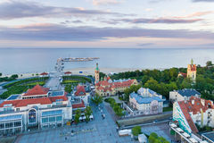 Cityscape of Sopot, top view Royalty Free Stock Images