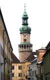 Cityscape - Sopron, Hongarije Stock Foto's